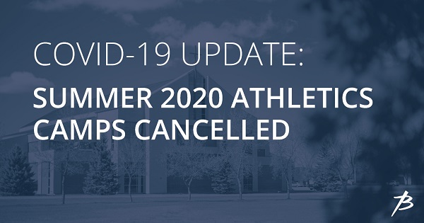 2020 Summer Athletics Camps cancelled