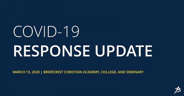 COVID-19 Update March 13, 2020