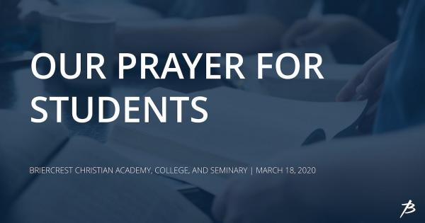 Prayer for students
