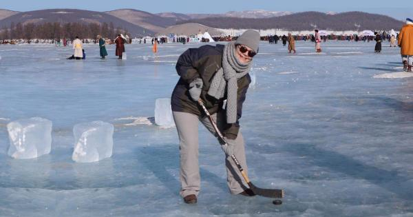 Cheryl at the Ice Festival in Northern Mongolia last year.